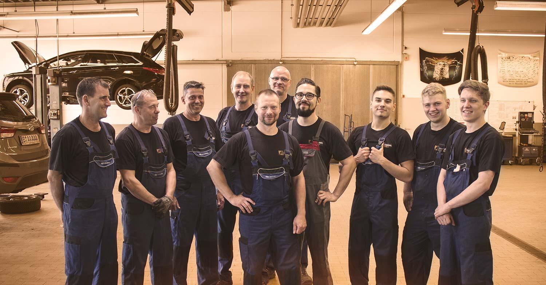 Das Werkstatt Team von CSB Schimmel Automobile