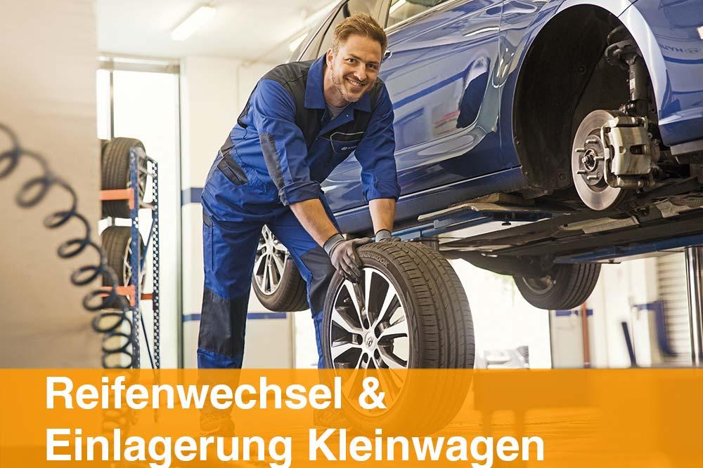Reifenwechsel und Einlagerung Kleinwagen