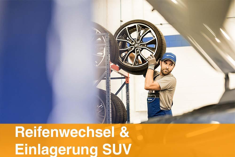 Reifenwechsel und Einlagerung SUV